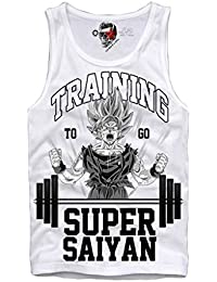 E1SYNDICATE T-SHIRT GO TRAINING SUPER SAIYAN DRAGONBALL GYM SON GOKU