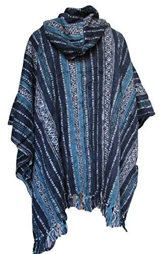 No Eye Deer - Poncho - Cappotto -  donna Blue