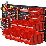Lagerboxen-Set 45-teilig Werkzeugwand Organizer 120x40 cm