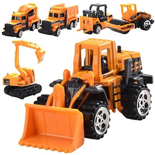 6Legierung Engineering Auto Spielzeug-Set, mamum lustig Druckguss Kunststoff Engineering Fahrzeugmodell Wheel für Kinder Auto Spielzeug (Lustige Spongebob-bilder)
