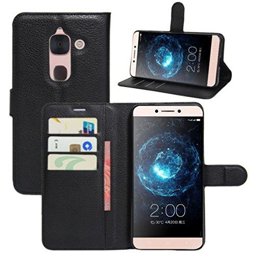 HualuBro LeEco Le Max 2 Hülle, Premium PU Leder Leather Wallet HandyHülle Tasche Schutzhülle Flip Case Cover für Letv LeEco Le Max 2 X820 4G LTE 5.7