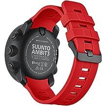Loveblue para Suunto Ambit3 vertical Watch Band, replacement reloj inteligente banda suave correa de silicona Wirst banda para Suunto Ambit3 vertical