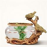 Uncle Sam LI- manufatti per l'arredamento resina uccello modo creativo Goldfish Bowl vetro dell'acquario dell'acquario tabella dell'ufficio arte