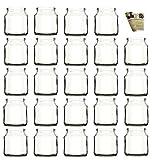 gouveo 24er Set Teelichtgläser Rondo und 28-seitige Flaschendiscount-Rezeptbroschüre Windlichter, Windlichthalter, Vase