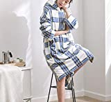 Femmes Treillis Automne Hiver Nouvelle Mode Pyjamas Mignon épaississement Chaud Robe Peignoirs De Service à Domicile