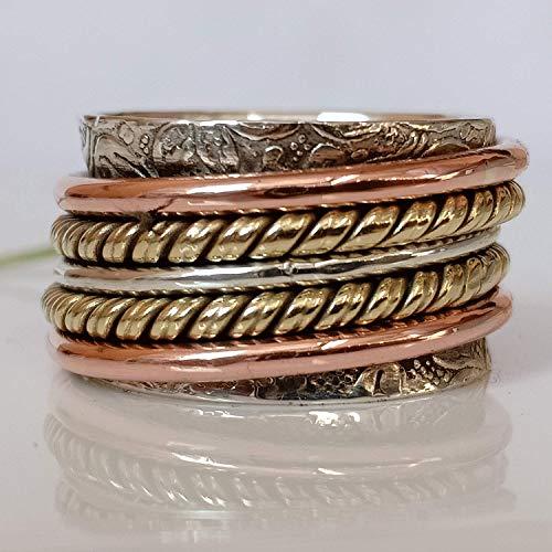 efa85b274 Hot Spinner Ring**Anxiety Ring*Silver Spinner Ring* Spinning Ring*  Meditation