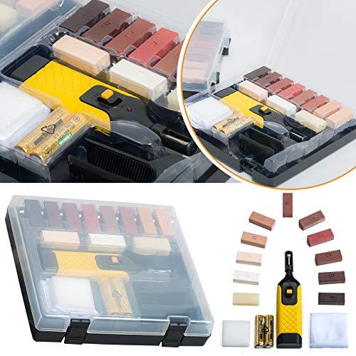 Safekom Reparaturkit für Laminatböden, Arbeitsflächen und Möbel, Wachssystem, Chips, gegen...