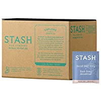 Stash Tea Decaf Earl Grey Tea, 100 Count Box of Tea Bags in Foil