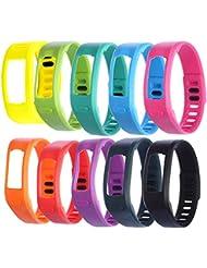 WEINISITE Recambio pulsera Con broches de Garmin Vivofit Pulseras/Garmin Vivofit Fitness, ningún Tracker (10 piezas, L)