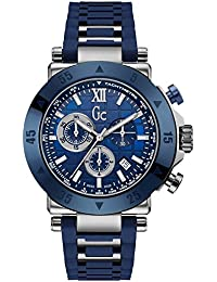 Gc Mens GC-1 Sport Chronograph Blue Silicone Strap X90025G7S