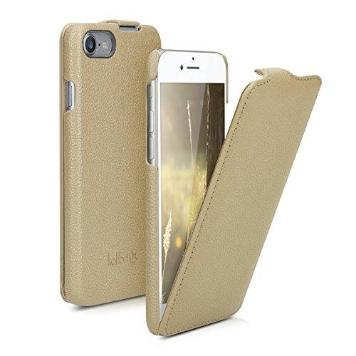 kalibri Flip-Hülle Ultra Slim Tasche für Apple iPhone 7/8 - Leder Schutzhülle Case in Beige