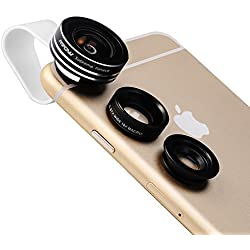Mpow MFE1-UK 3 in 1 Clip-O Supreme Fisheye Macro Lens for iPhone 6s/Samsung/HTC