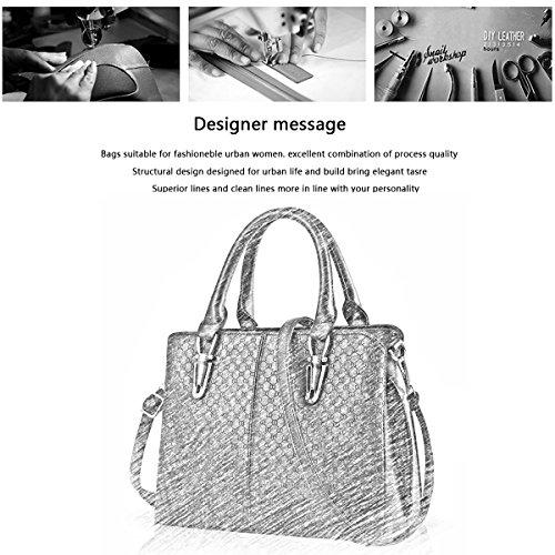 Sunas 2017 nuova borsa semplice portafoglio La signora borse in rilievo spalla casuale della borsa del messaggero della borsa Bianco sporco
