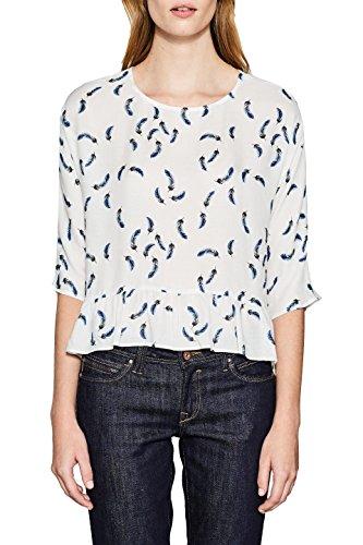 ESPRIT Damen Bluse 117EE1F010, Mehrfarbig (Off White 2 111), 42