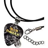 Iron Maiden Púa de Guitarra Collar de la Cuerda Necklace Black Pearl ( GHF )