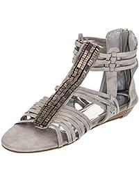 Modische Damen Römer Sandalen Sandaletten Schuhe mit Reißverschluß 036796f0bc