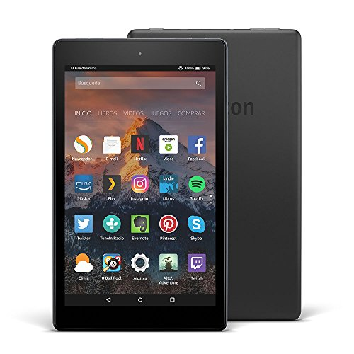 Tablet Fire HD 8, pantalla de 8'' (20,3 cm), 16 GB (Negro) - Incluye o