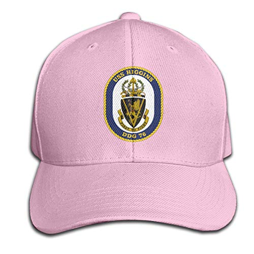 Nicegift USS_Higgins_DDG-76 Unisex Adjustable Peaked Baseball Caps Hats Duck Pink