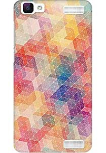 AMEZ designer printed 3d premium high quality back case cover for Vivo V1 Max (pateern colourful)