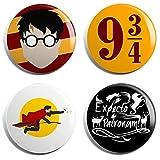 Potter Fan Group Badges (Set of 4)