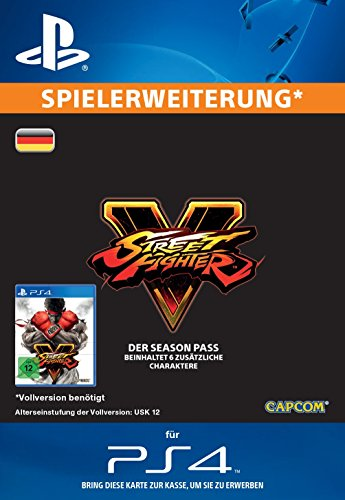 Street Fighter V - Season Pass 2016 [Spielerweiterung] [PS4 PSN Code - deutsches Konto] (Street Fighter 4 Kostüm)