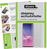 dipos I 6X Schutzfolie matt passend für Samsung Galaxy S10 Folie Displayschutzfolie (3X Vorderseite + 3X Rückseite)