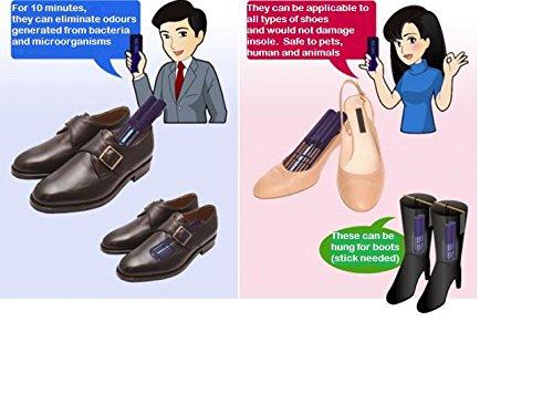 2x tragbare UV-C-Sterilisatoren für Schuhe, Stoff, Handschuhe, Mützen, Helme, Schränke–beseitigt Gerüche aus Bakterien