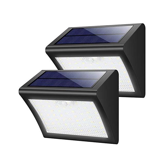 Lampe Solaire Extérieur, Trswyop [ 2 Pack] 60 LED Lumière Solaire ...