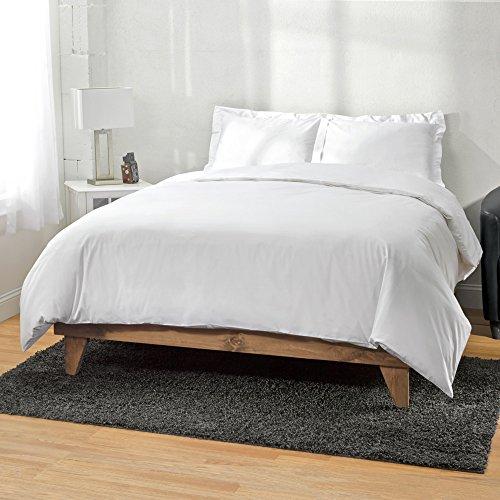 00Ägyptische Baumwolle 3-teiliges Bettbezug Fadenzahl von ägyptische Baumwolle, Eltern, schwarz, baumwolle, weiß, Full/Queen ()