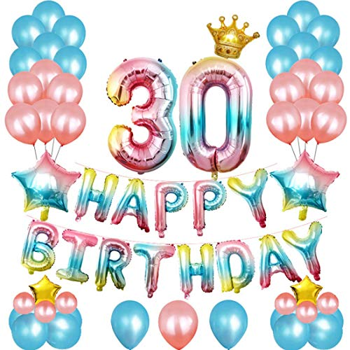 67pc 30th Birthday Decorations Set