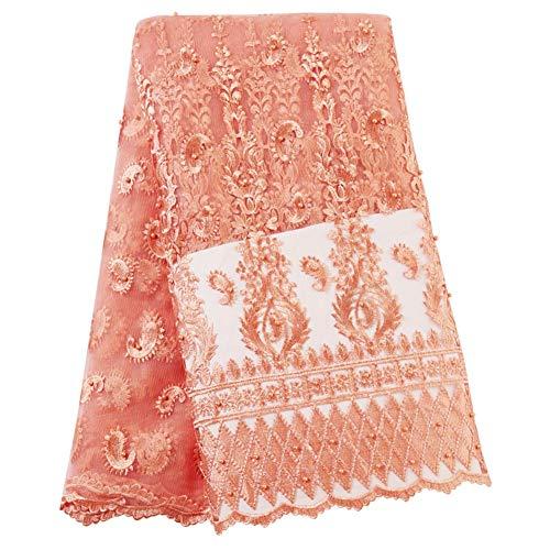 5 yards stickerei spitze net stoffe perlen tuch diy party dress formale brautkleider stoff - Formale Brautkleider