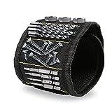 Magnetisches Armband Iglatt Magnetarmband mit 10 Starken Magneten Halten von Werkzeugen Schrauben Muttern Inbusschlüssel Nägel Bohren Bits Scheren Beilagscheiben usw. Ergänzung zur Bohrmaschine