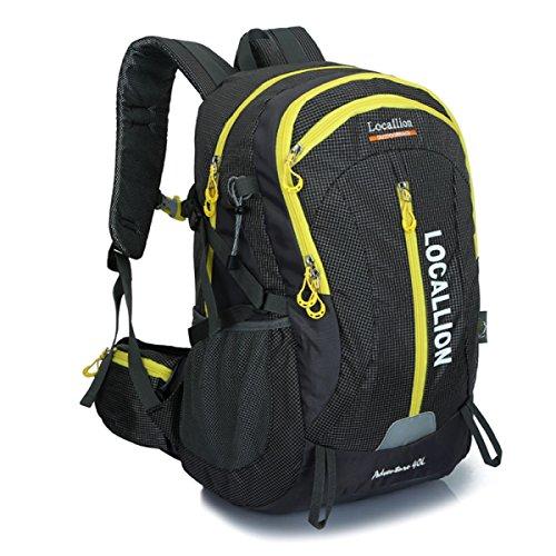 Neuer Lässige Kleidung Sport Bergsteigen Rucksack Groß Kapazität Reise Tasche 40L Black