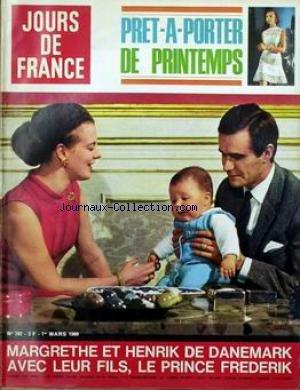 JOURS DE FRANCE [No 742] du 01/03/1969 - PRET-A-PORTER DE PRINTEMPS. MARGRETHE ET HENRIK DE DANEMARK AVEC LEUR FILMS LE PRINCE FREDERIK.