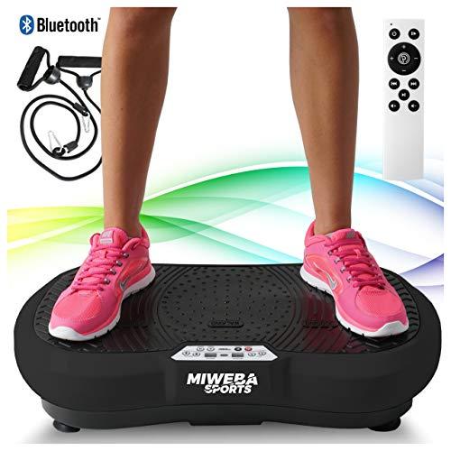 Miweba Sports Fitness 2D Vibrationsplatte MV100-3 multidimensionale Vibrationszonen - Oszillierend - 250 Watt (Schwarz)