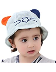 Leisial Sombrero de Pescado Algodón Lindo Sombrero de Orejas de Gato Gorras Sol Playa al Aire Libre Protector Solar Verano para Niños Bebés