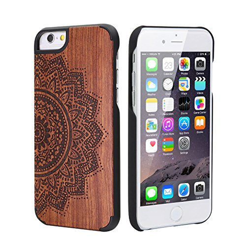 leapcover® unique fait main Coque rigide en bois de bambou naturel véritable pour iPhone 6(11,9cm)