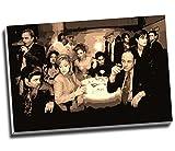 Sopranos Collage Leinwand Moderne Gangster Wall Art Print auf Leinwand Bild Kunstdruck auf Leinwand groß A176,2x 50,8cm (76.2cm x 50.8cm)