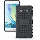 [Sponsored]Rugged Hard Armor Cell Phone Stand Case For Samsung J710 (Black)