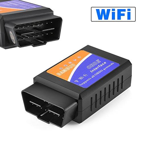 OBD2 wifi, Bambud Dispositivo de Diagnóstico OBD2, Adaptador Wifi OBD2, OBDII, OBD Opel, OBD2 Escáner Wifi USB, OBD BMW, OBD2 Adaptador Wifi ios, Mini Escáner OBD2 Wifi para Multi Marca CAN BUS Igual que ELM327 Wifi, Leer Códigos de Error de Diagnóstico, Genérico y específico del fabricante, Soporte Todos Protocolos OBD2, Funciona en iOS, Android, Symbian, Windows