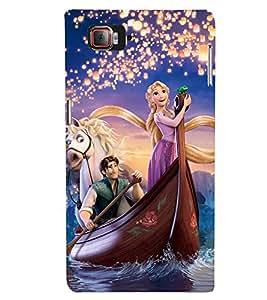 Printvisa Princess Sailing With The Prince Back Case Cover for Lenovo Vibe Z2 Pro K920