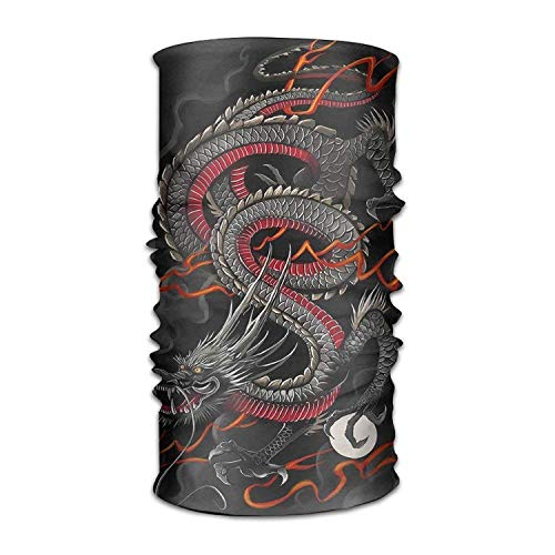 Multi-use Vintage Dragon Headband Balaclava Bandana Mask Sports Seamless Breathable Hair Band Turban for Workout, Fitness, Running, Cycling, Yoga 10 * 20inchs