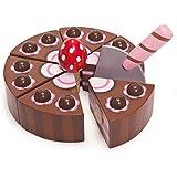 Le Toy Van 12277 - Tarta de chocolate de madera con paleta