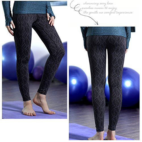 Zhhlaixing Women's Comfortable Breathable Running Quick-dry Tights yoga Leggings Q15-0024 Multicolore