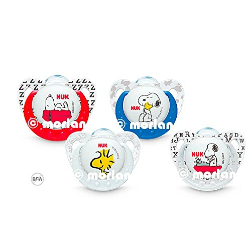 Nuk Chupete Snoopy Silicona T1 0-6meses