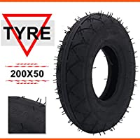 "AnXin 200 x 50 Tire 8""x2"" Tubeless For Razor E150 E200 Dune Buggy Crazy Cart Electric Scooter"