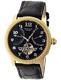 heritor automatic HR2004 - Reloj para hombres, correa de acero inoxidable color negro