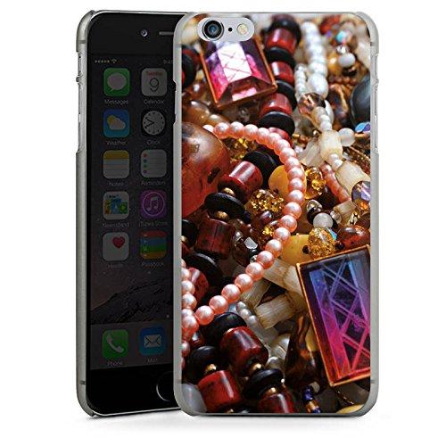 Apple iPhone X Silikon Hülle Case Schutzhülle Schmuck Juwelen Perlen Hard Case anthrazit-klar