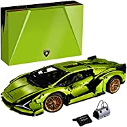 LEGO 42115 Technic Lamborghini Sián FKP 37 Race Car, Advanced Building Set for Adults, Exclusive Collectible M