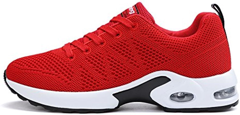 Hasag Calzado Deportivo de Mujer Zapatos nuevos de Verano Zapatos Deportivos de Suela Gruesa, 40, Rojo A1